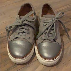Caslon gray leather sneaker